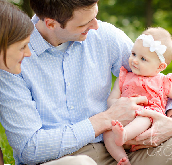 Baby {E} and her Parents | St. Louis Family Portraits