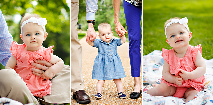 St Louis Family Photographer - KGriggs Photography - little girl and parents - Oak Knoll Park, St. Louis, MO