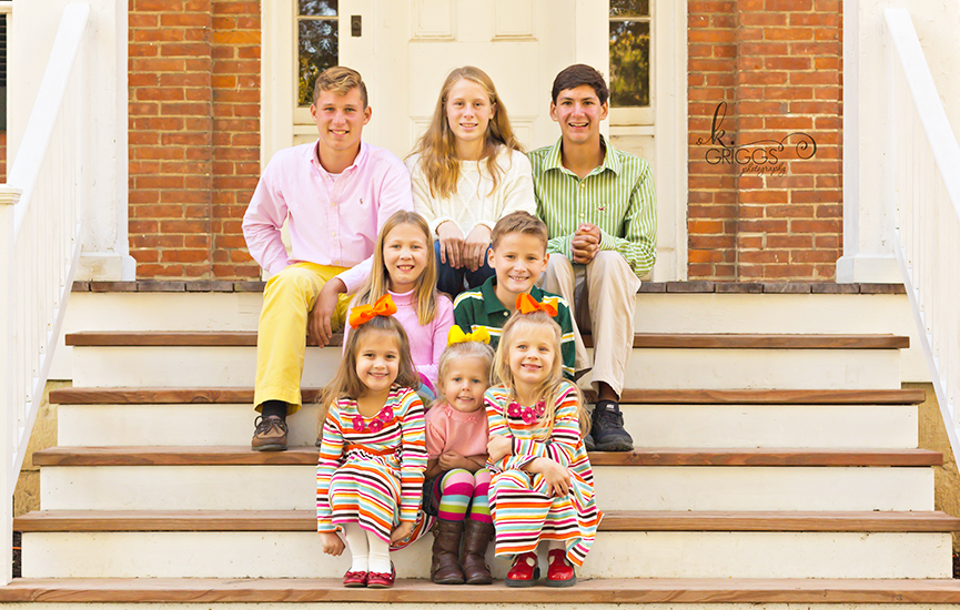 St. Louis Family Photographer - KGriggs Photography - family of 8 kiddos - Queeny Park, St. Louis, MO
