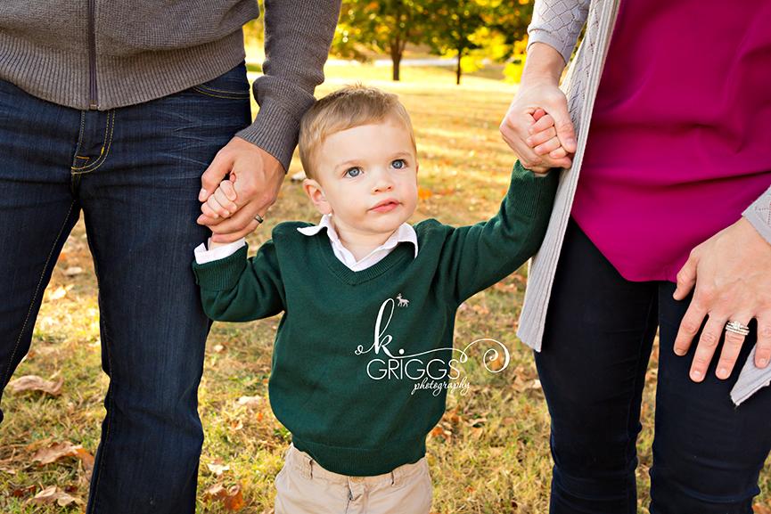 St. Louis Family Photographer - KGriggs Photography - little boy holding parents hands - Faust Park, St. Louis, MO