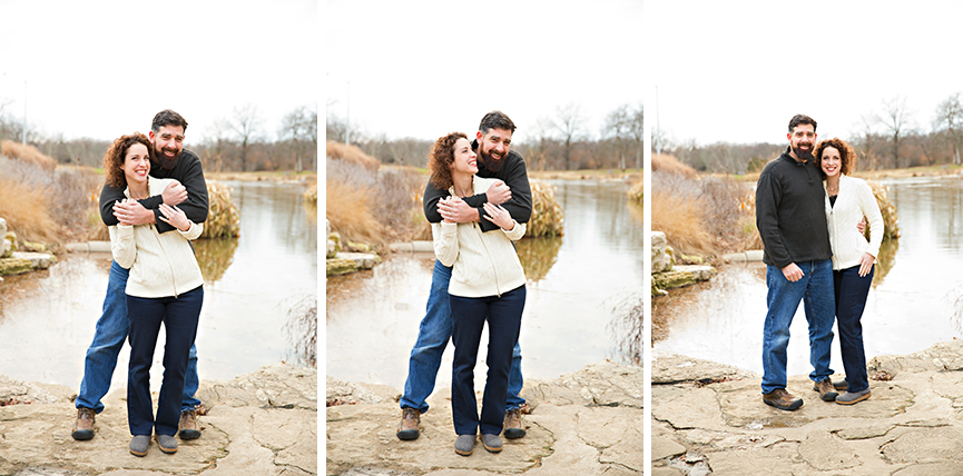 Three photos of couple standing on rocks | Glendale Photography