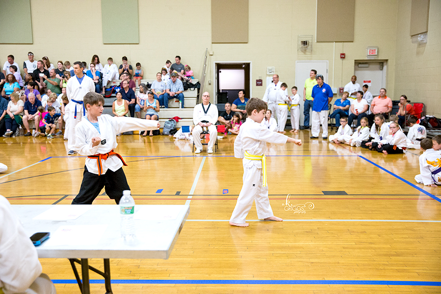 boy performing taekwondo form | kirkwood children's photographer