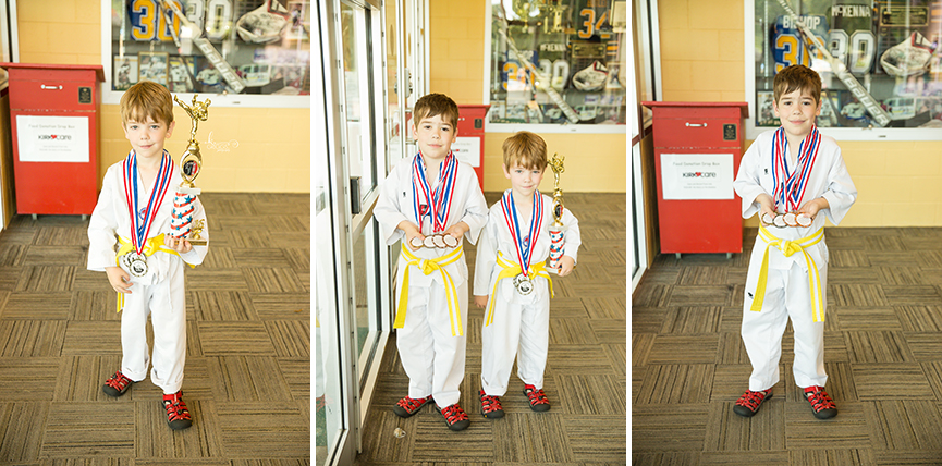 two boys with medals | st. louis kids photographer