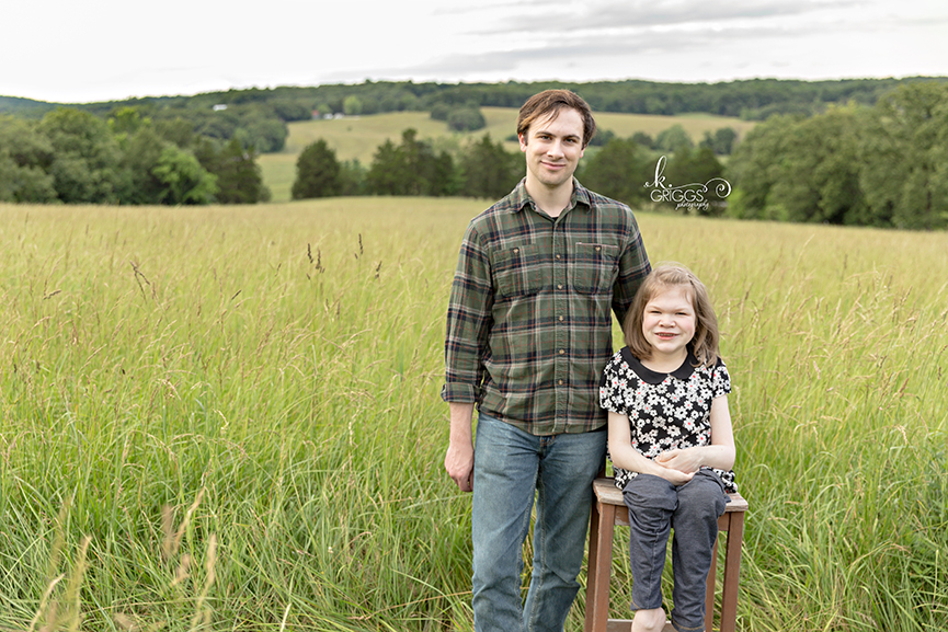 Brother and Sister in a field of grass | St. Louis Children's Photographer
