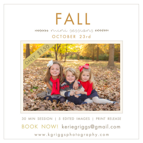 *Update* Fall Mini Photo Sessions | St. Louis Family Photographer