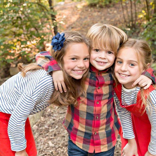 Little Guy and His Sisters : Fall Mini Session | St. Louis Photographer