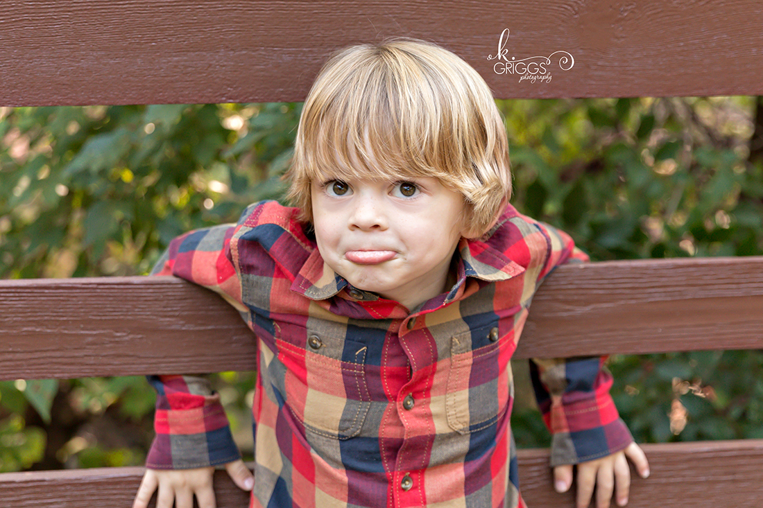 Little Guy being silly Longview Farm Park | St. Louis Children's Photographer