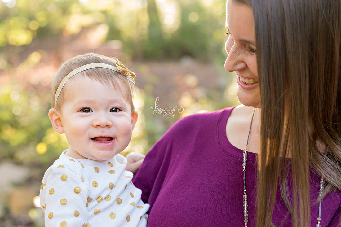 Baby girl and her mom Longview Farm Park | St. Louis Children's Photographer