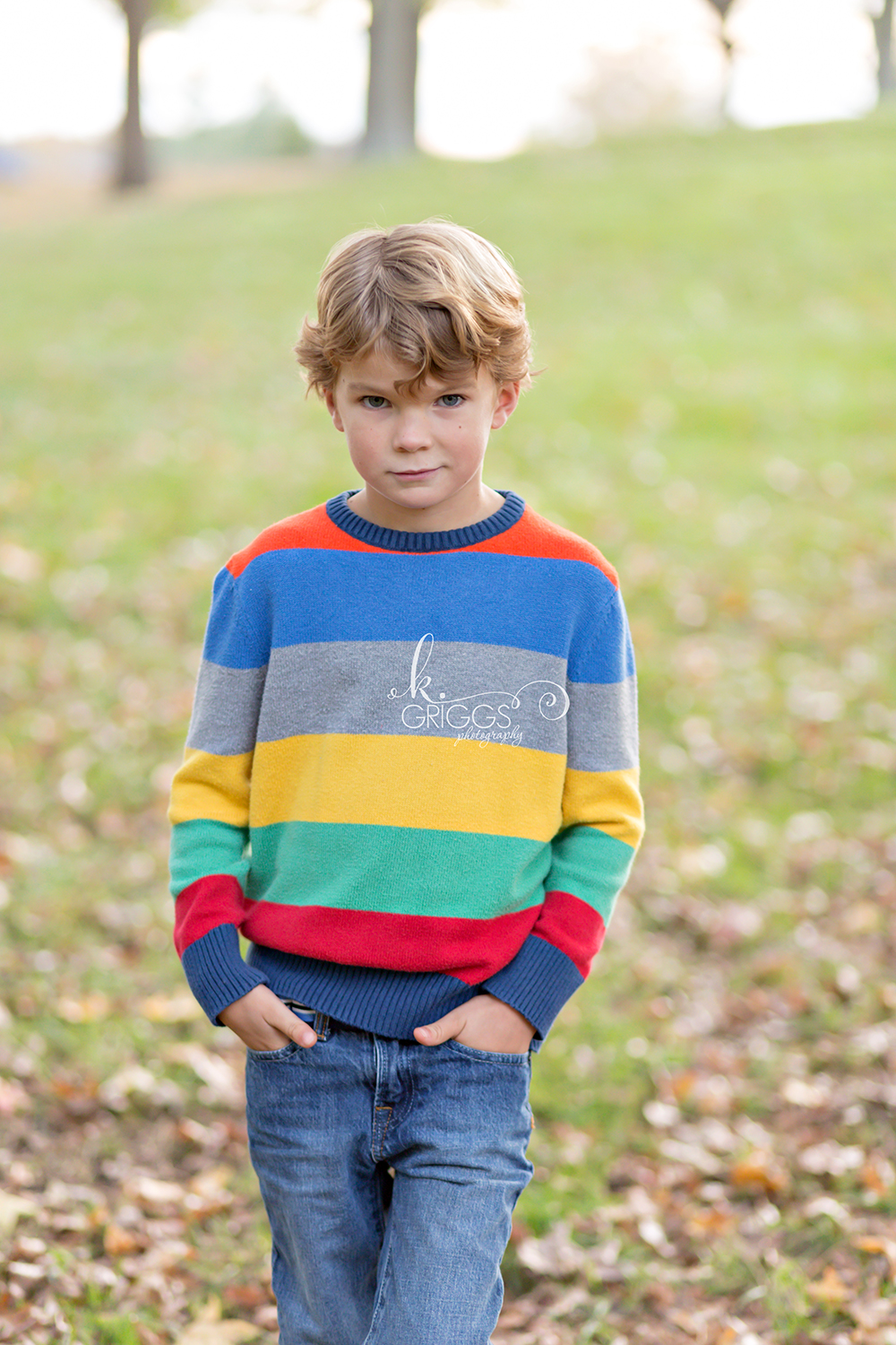 Young boy with hands in pockets | Kirkwood Family Photographer