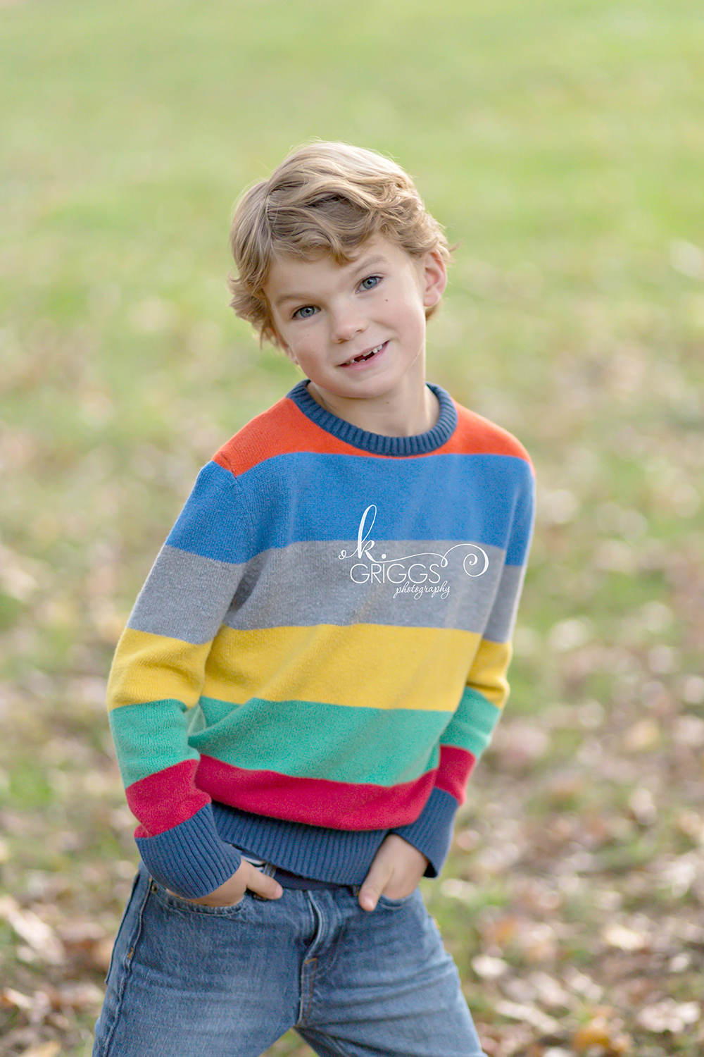 Young boy standing smiling at camera | Glendale Family Photographer