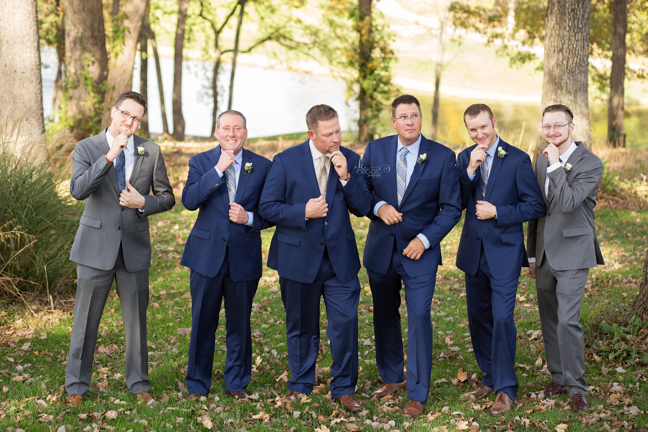 Groom and groomsmen being silly | St. Louis Photographer
