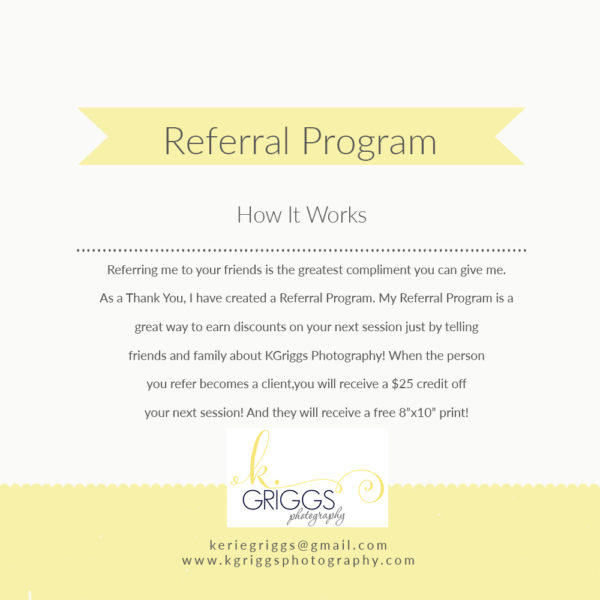 {Client Referral Program} | St. Louis Family Photographer