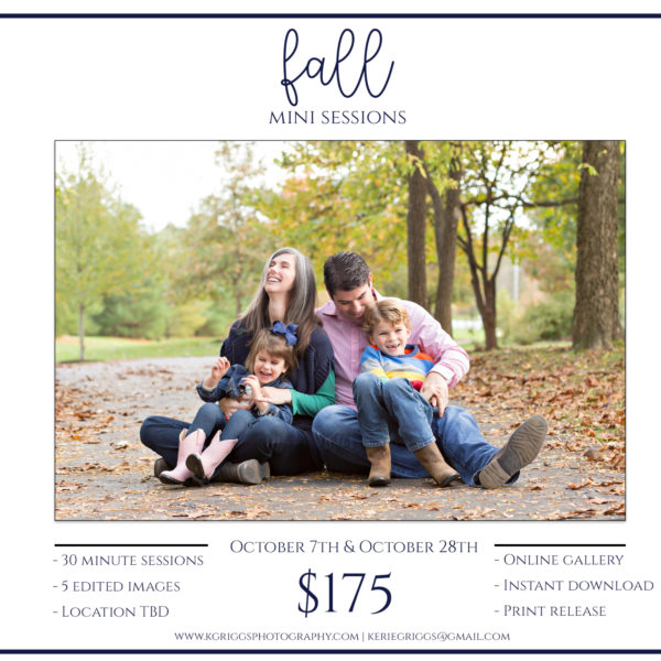 Fall Mini Photo Sessions | St. Louis Family Photographer